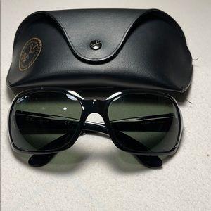 Ray-Ban Black Frame Classic Green Lens Sunglasses